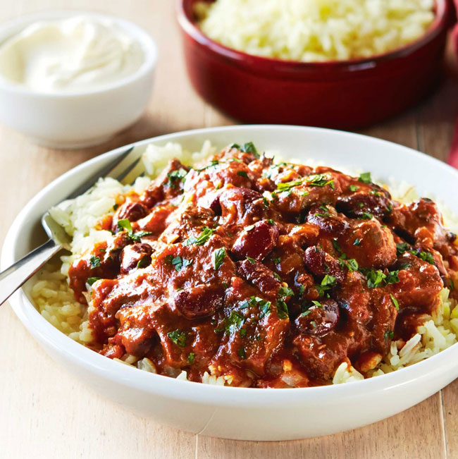 Chilli with Rice