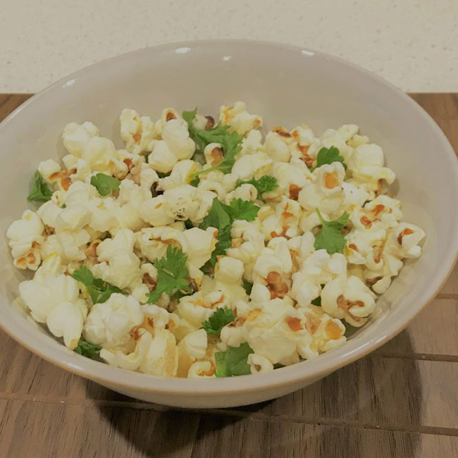 Homemade parmesan popcorn